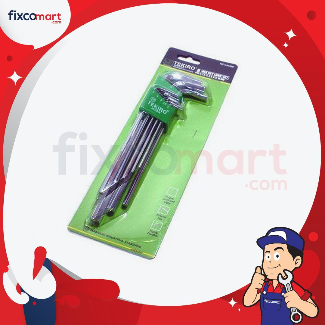FIXCOMART - Tekiro Kunci L Set Panjang 8 Pcs 2-10 mm / Hex Key