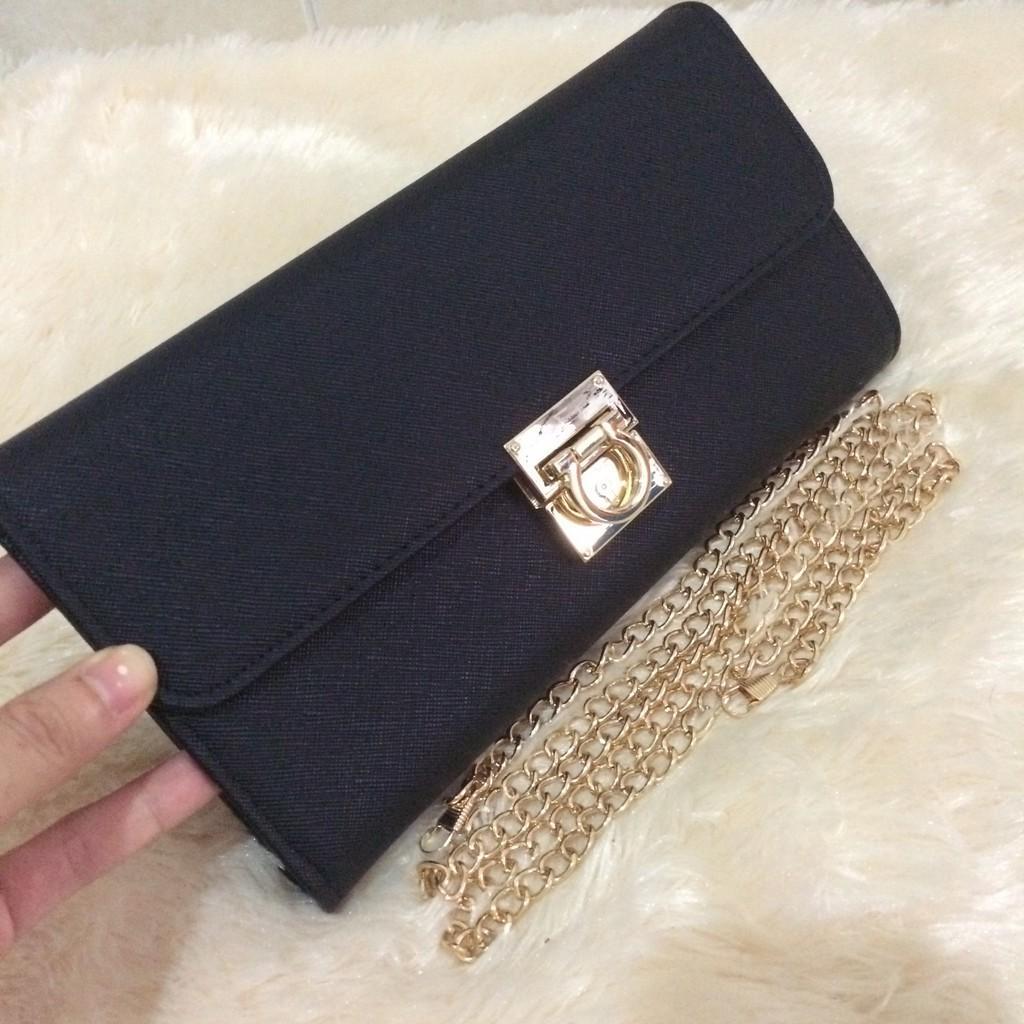 Dompet Wanita Branded Bag Cantik Keren- Clutch Salvatore Ferragamo