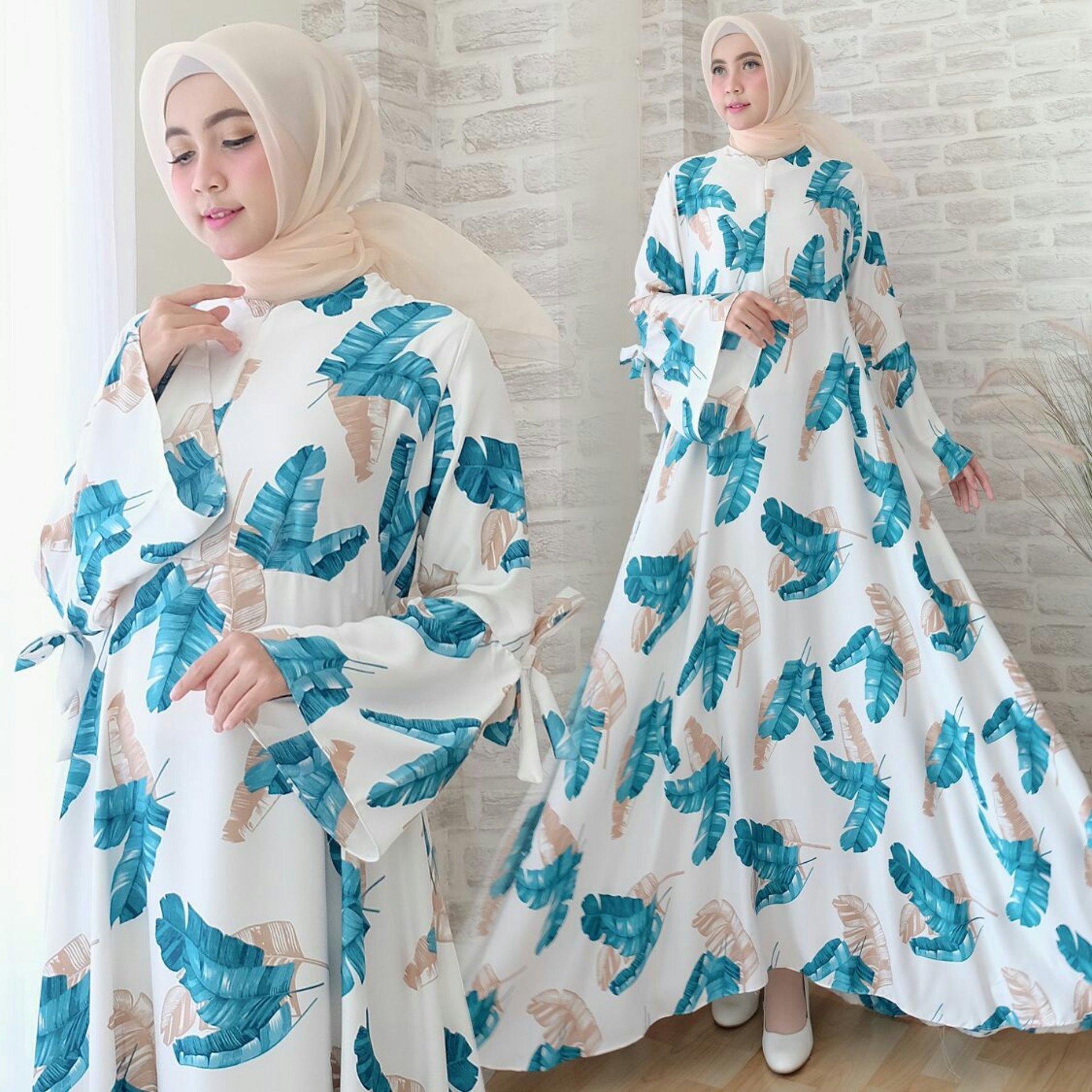 trendshopee Pakaian Muslim Wanita Gamis Maxi Amika