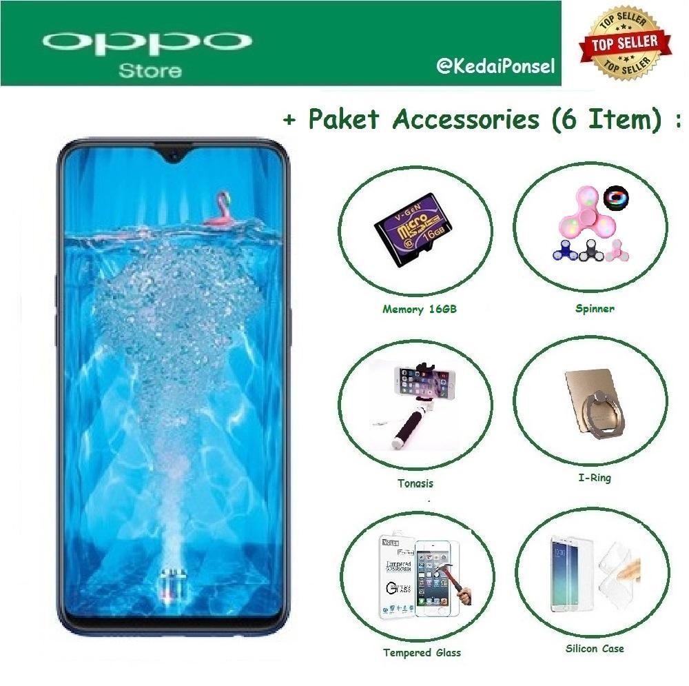 OPPO F9 [4/64GB] + New 6 Item Accessories
