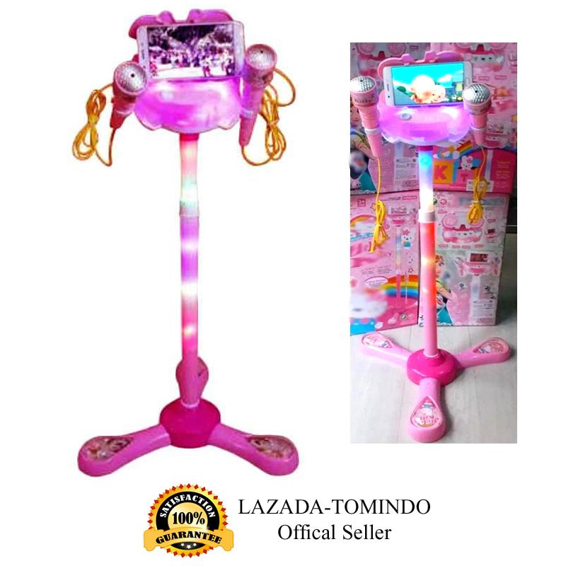 Tomindo Toys Mainan Microphone Double Mic Pink   mainan anak   mainan musik    mainan anak ad18d28b6b