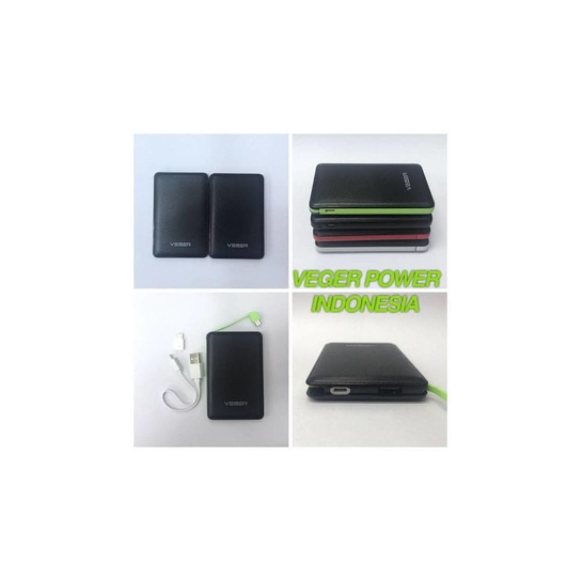 Veger V58 Power Bank Slim 12800mAh - List Putih