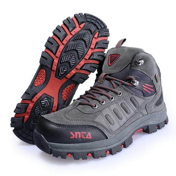 Sepatu Gunung /Hiking/Outdoor SNTA 467 Grey Red