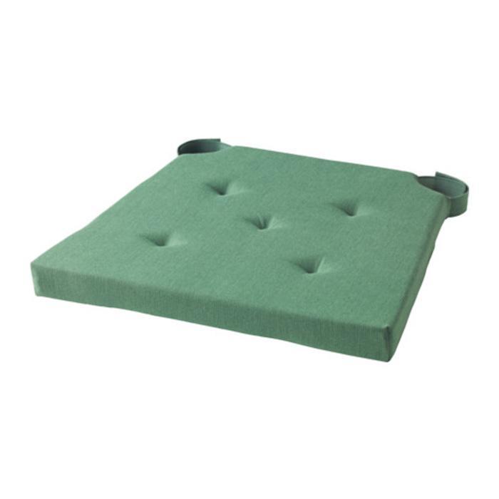 IKEA JUSTINA Alas Kursi  Bangku Chair Pad, Hijau