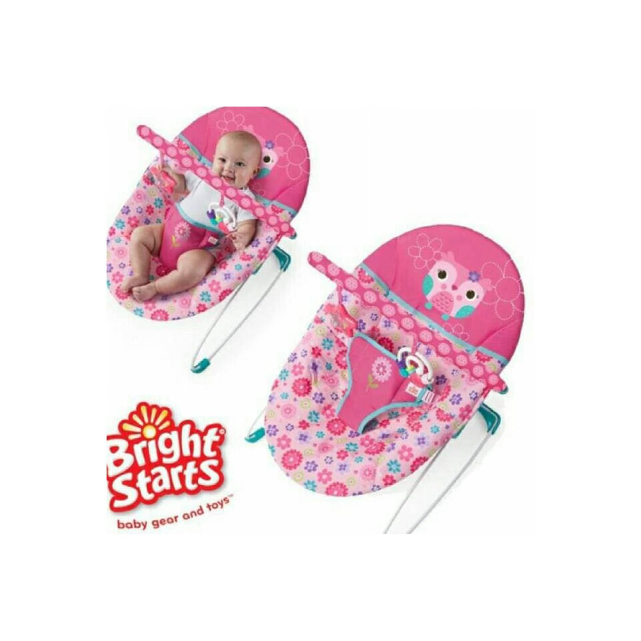 BRIGHT STARTS PRETTY IN PINK HAPPY FLOWER VIBRATING BOUNCER