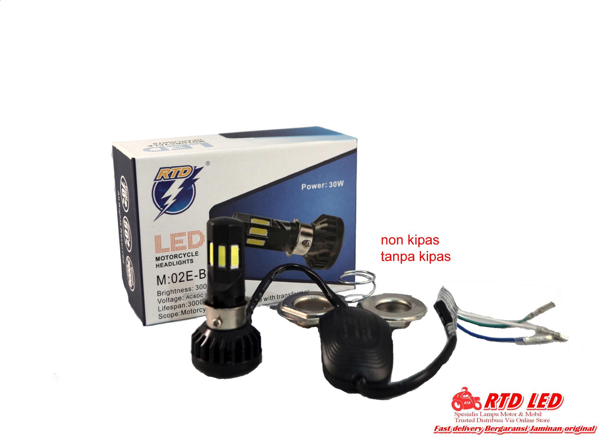 Jual Produk Rtd Online Terbaru Di Lampu Depan M11g Dc Led Motor Utama Headlamp Bohlam M02e B 6 Sisi Original Ac