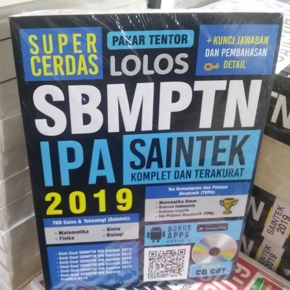 Buku Sbmptn 2019 : Super Cerdas Lolos Sbmptn Ipa Saintek 2019 Bonus Cd Cbt By Cendole