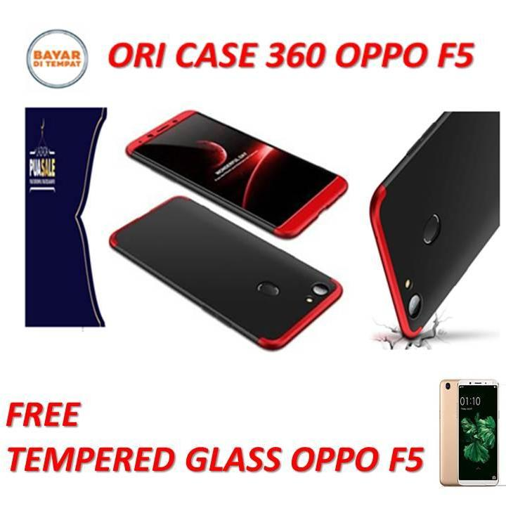 Case HP Oppo F5 Premium Front Back 360 Degree Full Body Protection Case Quality Grade A for OPPO F5  Combination color , / Case depan Belakang OPPO F5 kombinasi warna  FREE TEMPERED GLASS