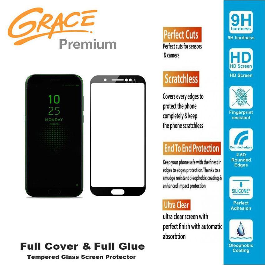 Grace Premium Xiaomi Black Shark - 5.99 inch Tempered Glass Full Screen - Full Glue - Lis Hitam