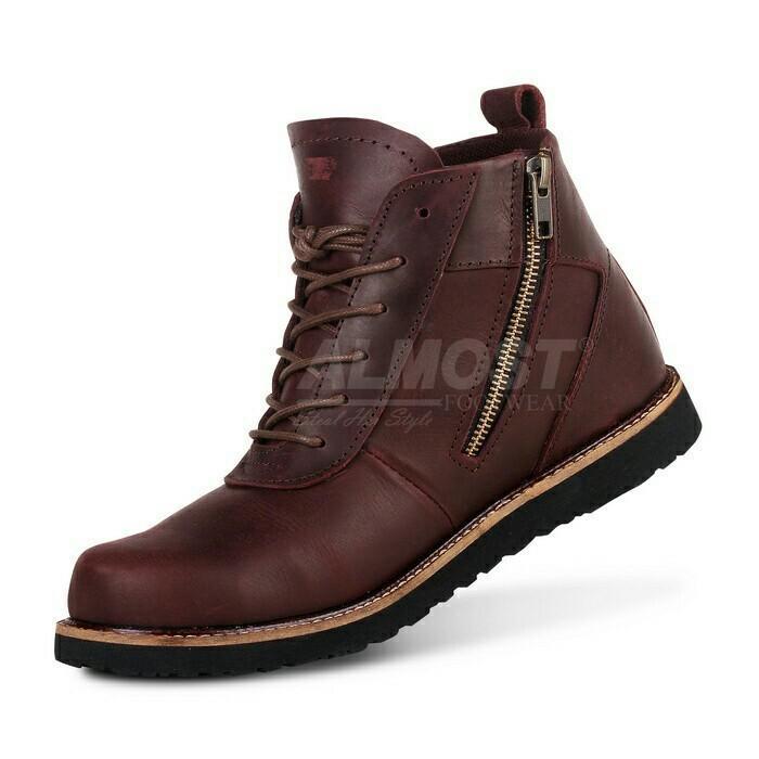 Sepatu Boots Safety Pria Crocodiles Shoes Kerja Touring Sepatu Proyek / Sepatu Gunung Sepatu Kulit