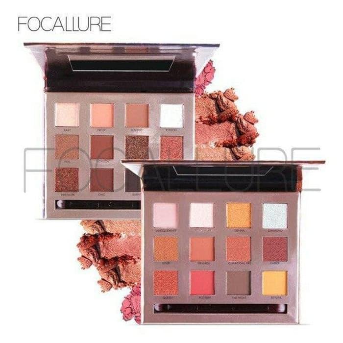 Import Focallure Eyeshadow 12 Colours Profesional Original Resmi Bpom - ready stock