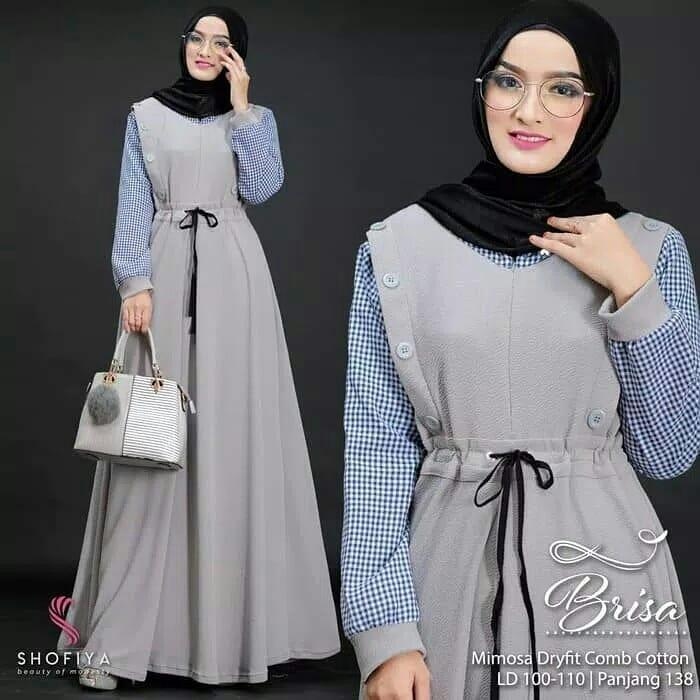 Baju Gamis Brisa Dress Balotely Baju Muslim Original Long Maxy Wanita Hijab  Terbaru Pakaian Cewek Modis 4b51c98275
