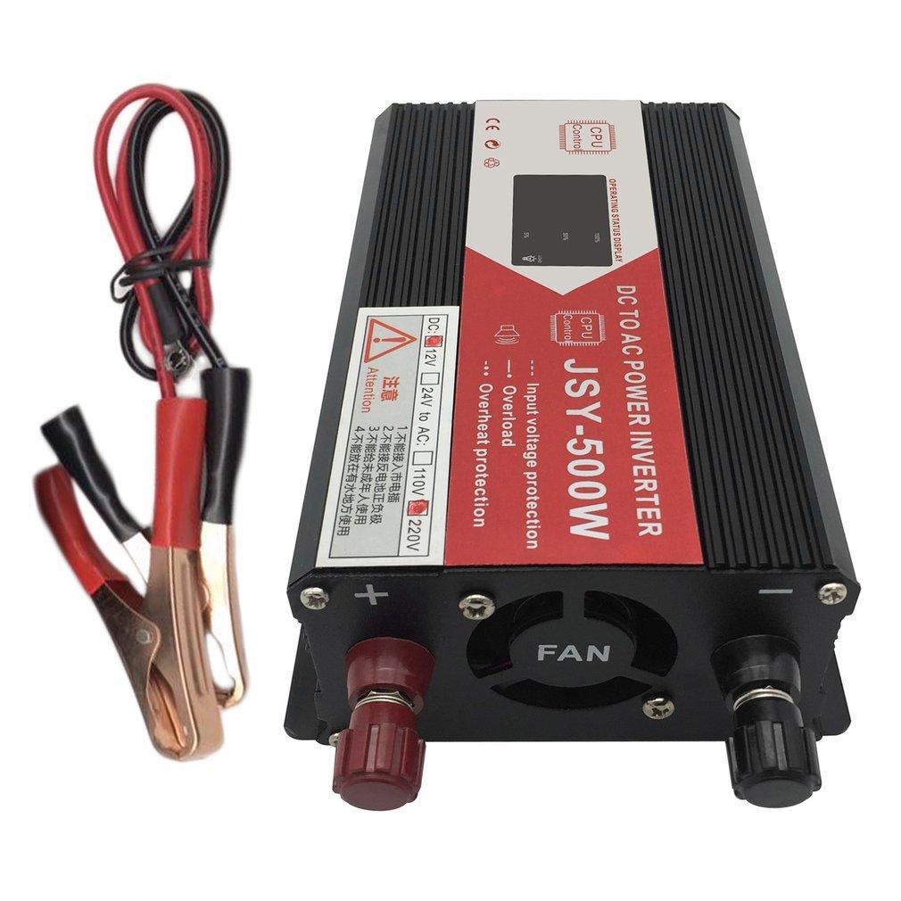 GOFT 500W Car Inverter DC to AC220V Auto Inverter Power Converter Inverter Black 12V to 220V