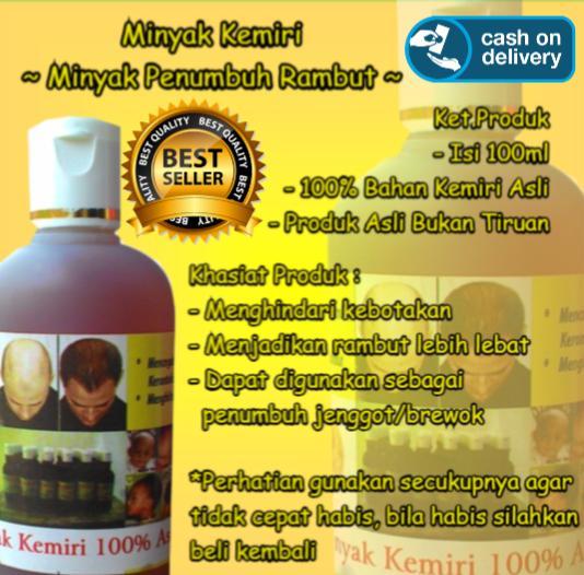 Minyak Penumbuh Rambut 100% Bahan Kemiri Minyak Penumbuh Rambut Minyak Pengurang Rambut Rontok MInyak Penumbuh