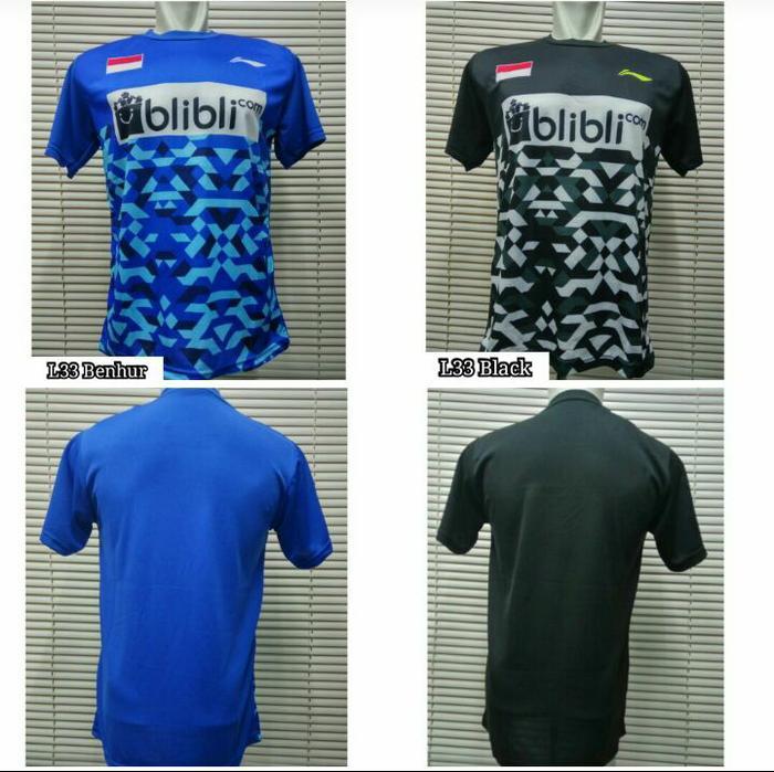 Baju Badminton Lining L33 / kaos Bulutangkis Jersey Olahraga atasan