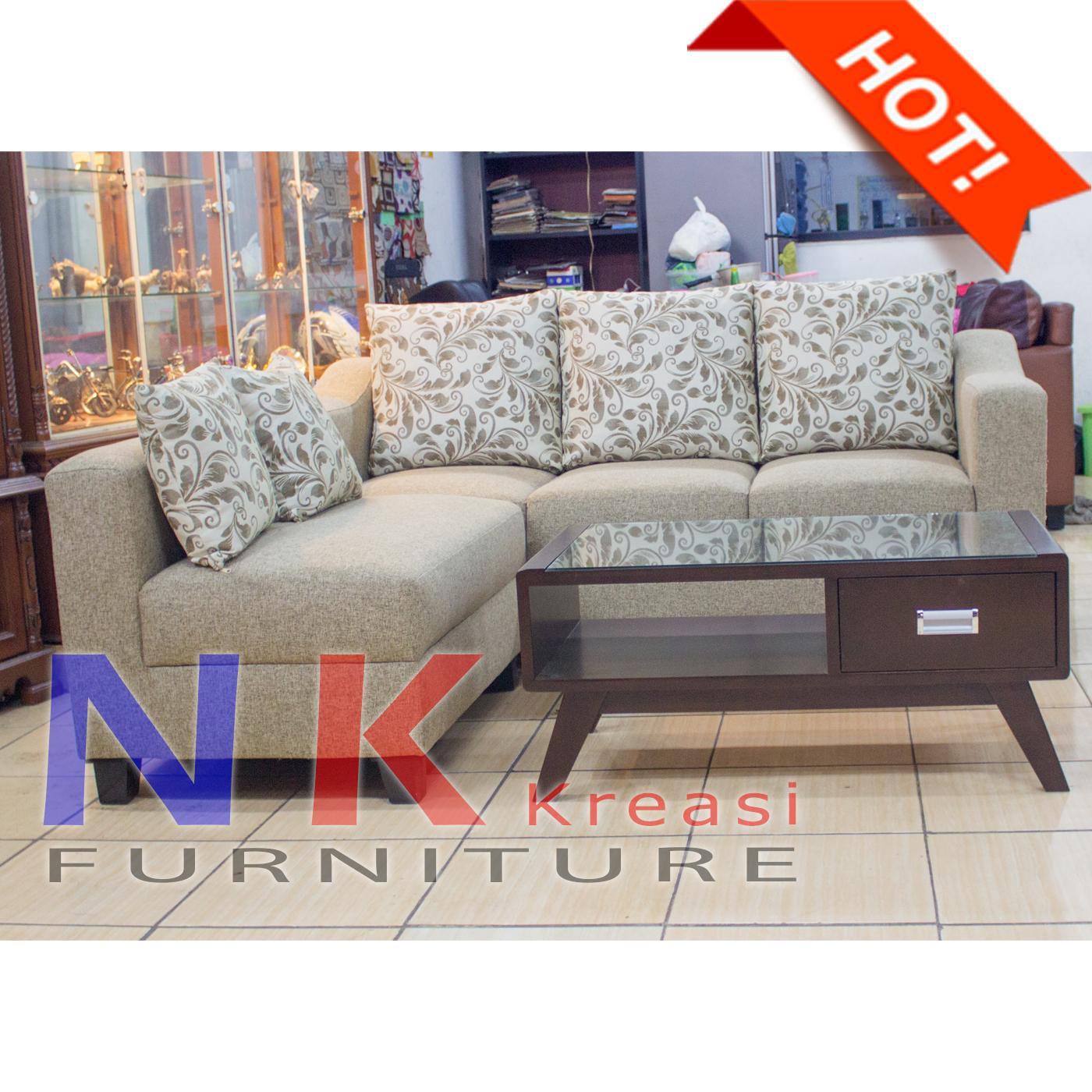 Promo Free Ongkir Sofa Kursi Ruang Tamu L Sudut Elegan Minimalis Mewah Meja Cantik