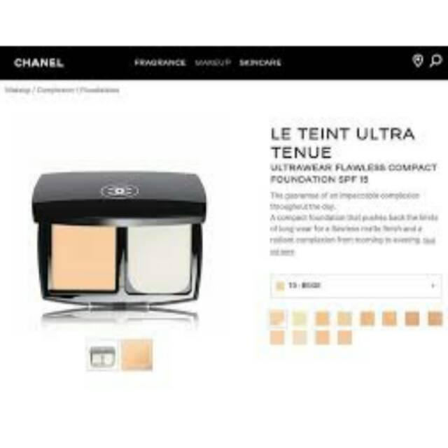 Chanel le teint ultra tenue compact powder B20