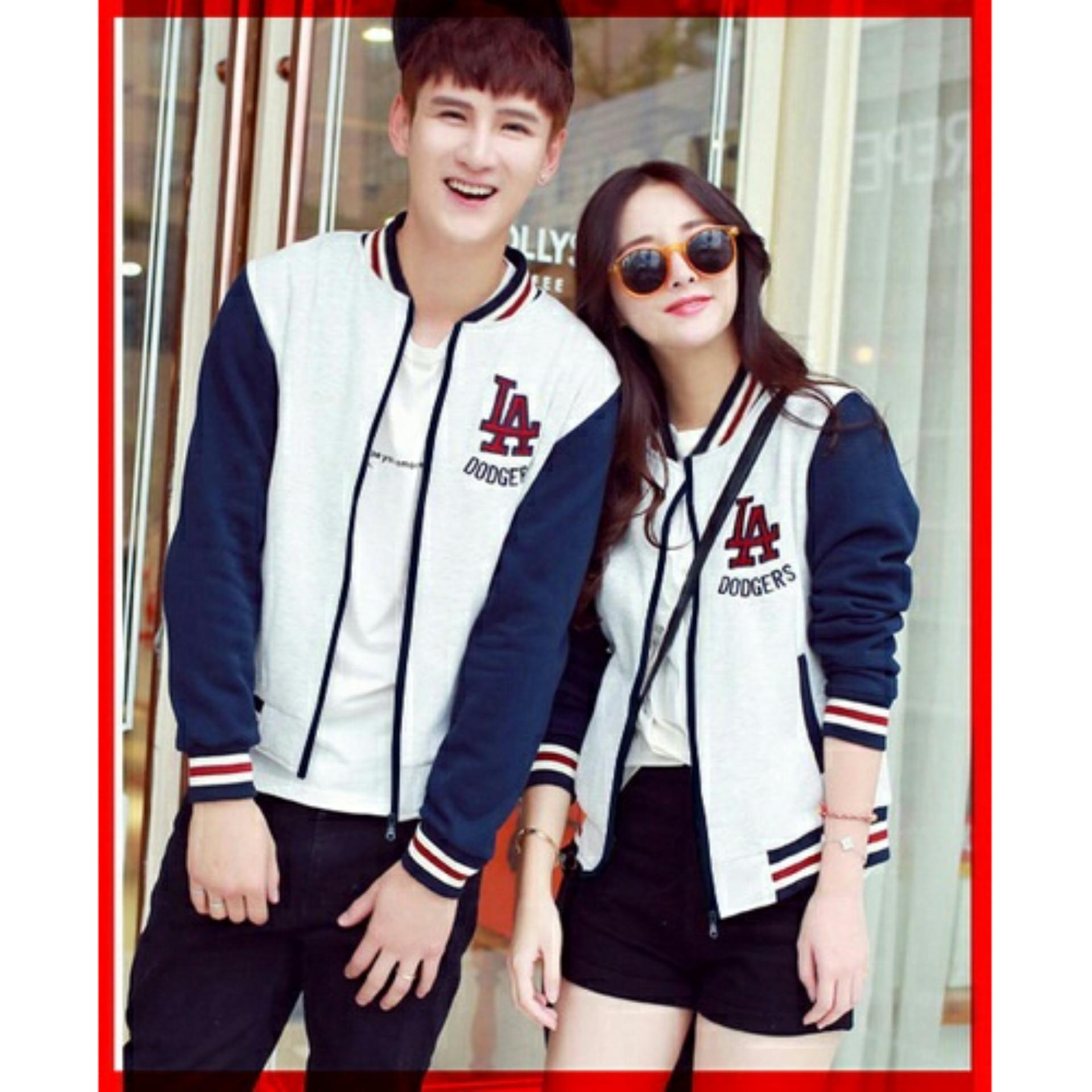 Jaket Couple LA Putih