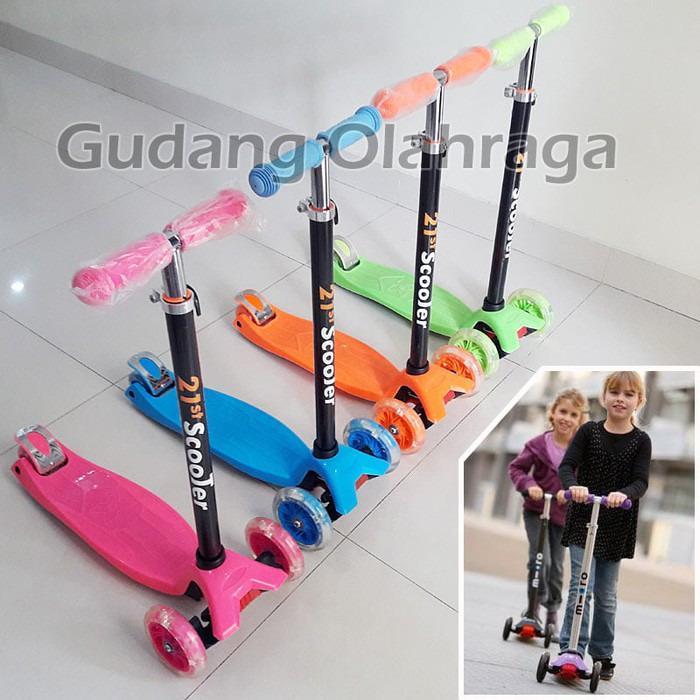 NEW!!! 21st Kickboard Scooter POLOS - Skuter Anak / Otoped Anak Roda 3