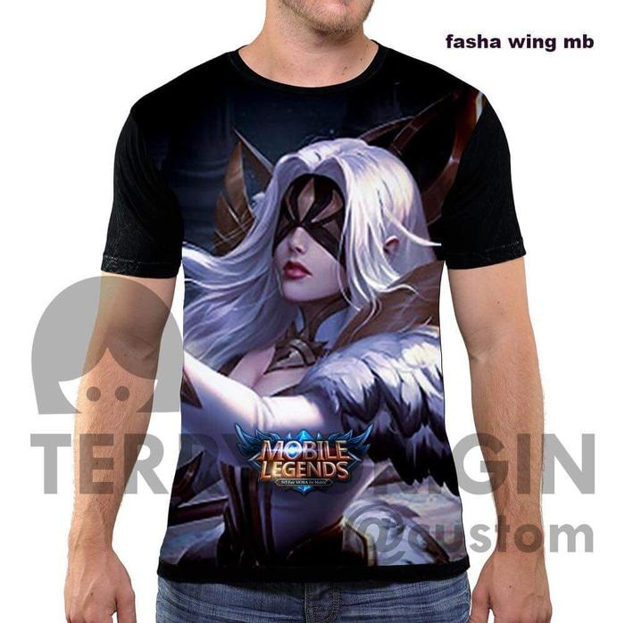 Kaos Game Mobile Legend Fasya Wings 3D Terry Fullprint - ready stock