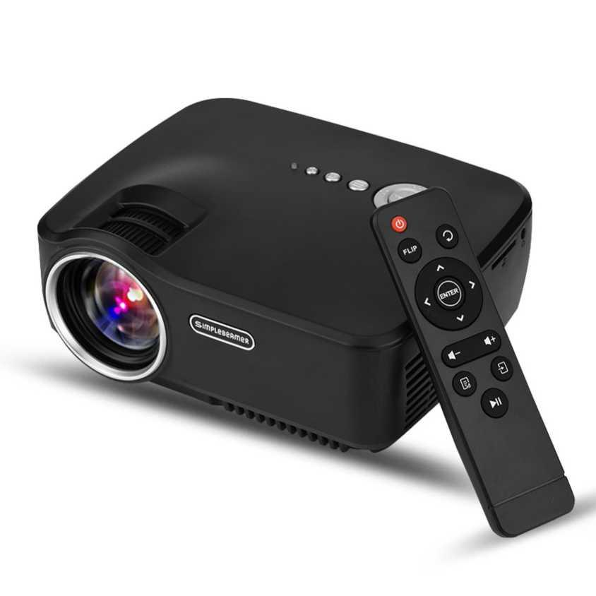 Proyektor mini/Proyektor mini portable/Proyektor infocus/Proyektor mini untuk hp/Proyektor tv tuner/Proyektor epson/Proyektor tv/Proyektor hp Mini LED Proyektor 1080P 1200 Lumens - GP70