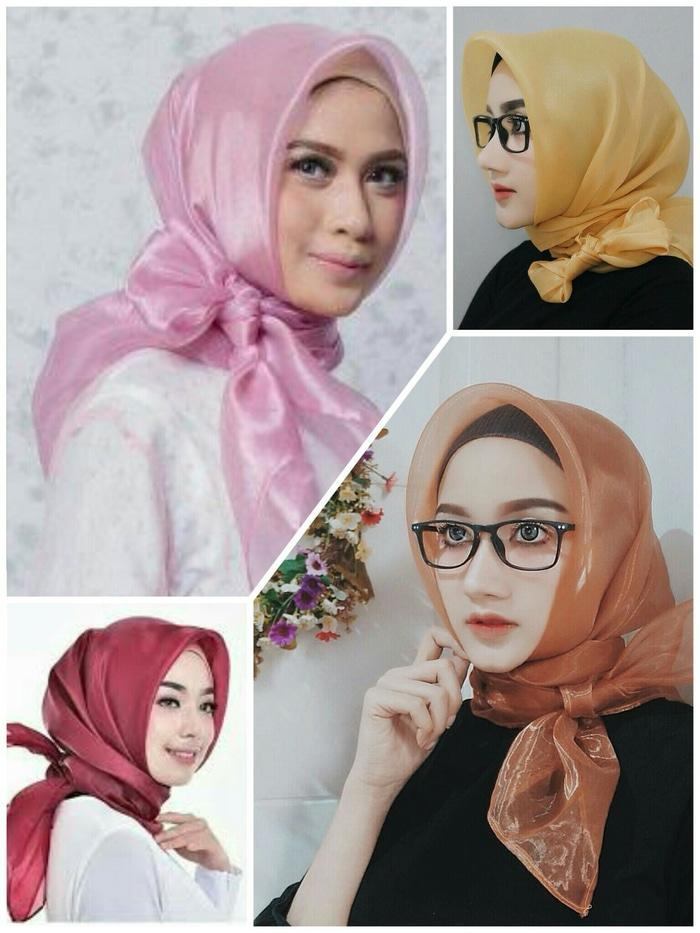 Segiempat Organdi / Organza / Square Organdi Hijab Murah Casual Jilbab Atasan Wanita Muslim