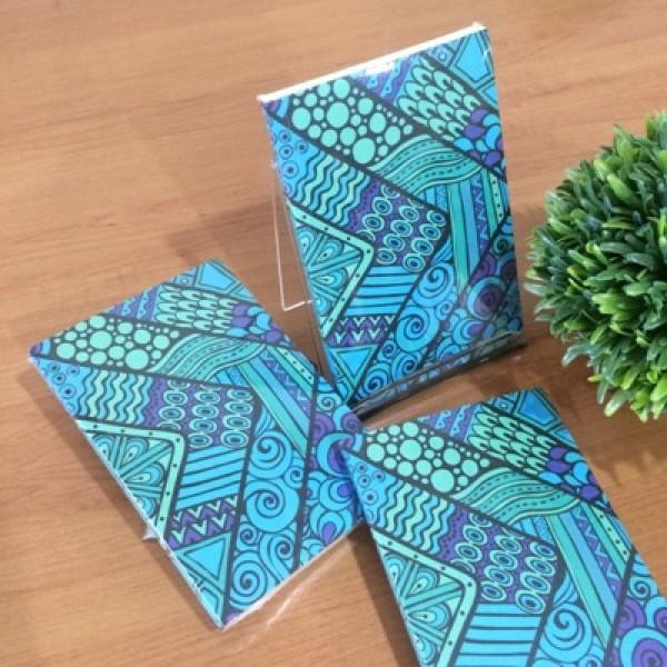 GAPJM40 : JURNAL Blue Pattern Batik (mini)