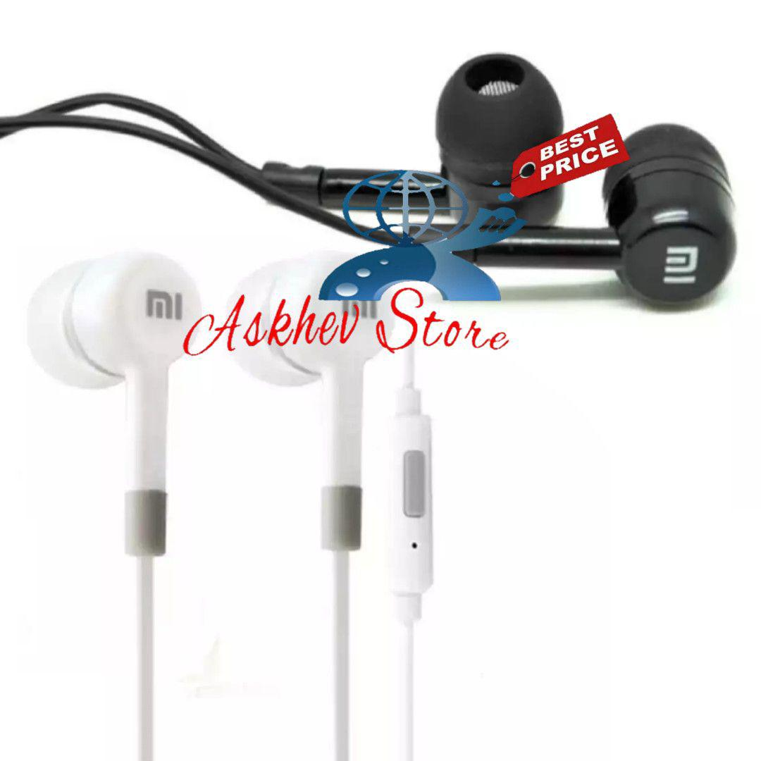 Headset Compatible For Xiaomi / handsfree earphone with mic redmi note 2 Oem