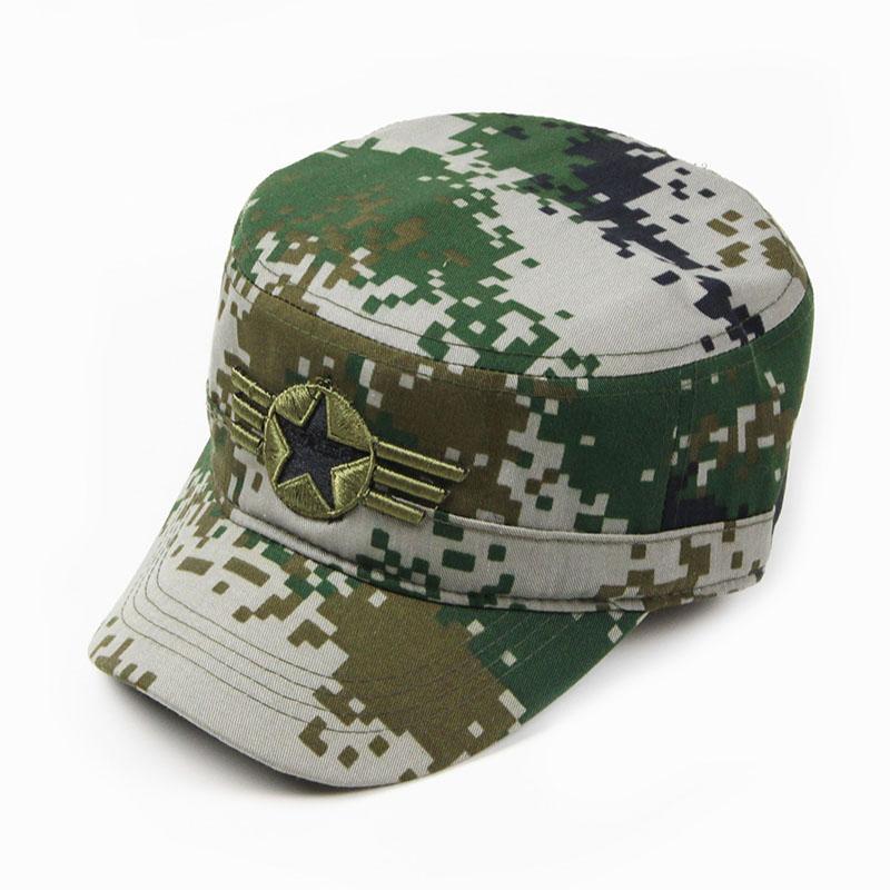 Model baru Army topi Topi kamuflase Pria dan wanita topi datar THE SPECIAL ARMS Luar rumah lapangan Topi pelatihan panggung pertunjukan topi tentara