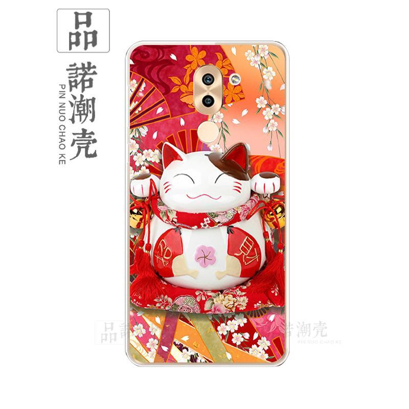 HUAWEI1 Selubung Ponsel Sarung Ponsel Note8 Jepang atau Korea Selatan Kucing Lucky Number Anti Jatuh