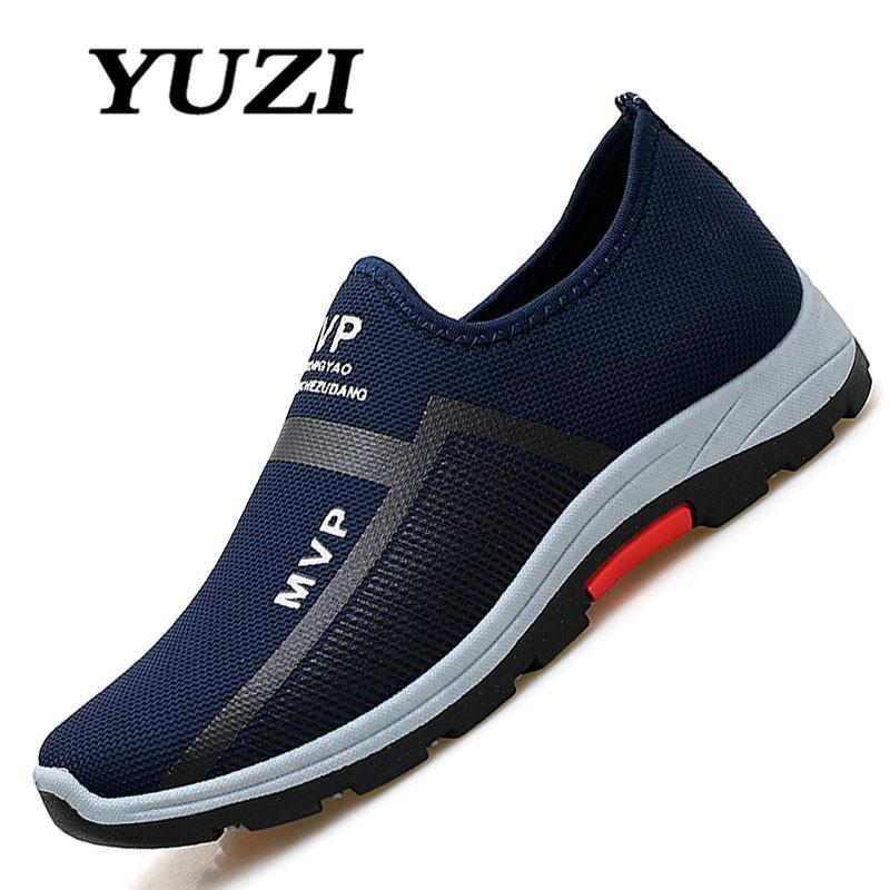 Sepatu Sneakers YUZI Baru Paling Populer Gaya Pria Sepatu Lari Kolam Berjalan Sepatu Kets Nyaman Sepatu