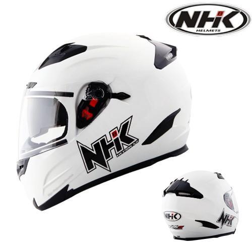 Helm NHK RX9 Solid White Putih Double Visor Full Face Fullface