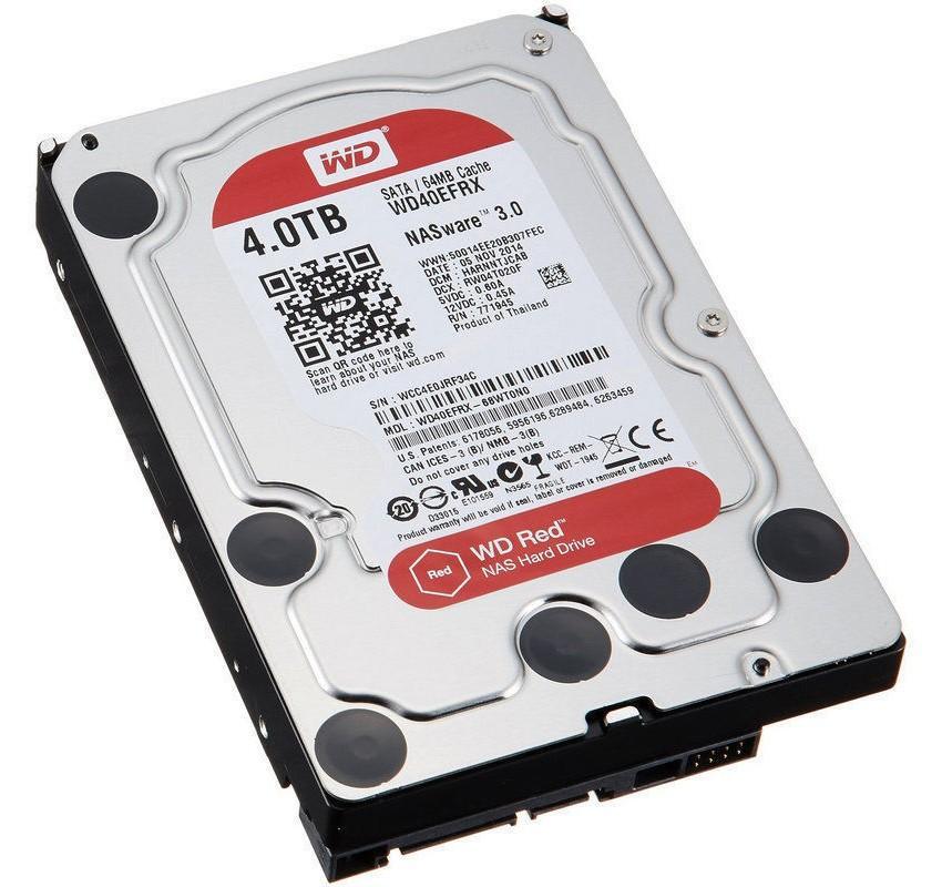 HDD/ hd/ hardisk/ harddisk/ hard drive western digital WD 4TB SATA3 Caviar Red NAS 3.5in - WD40EFRX