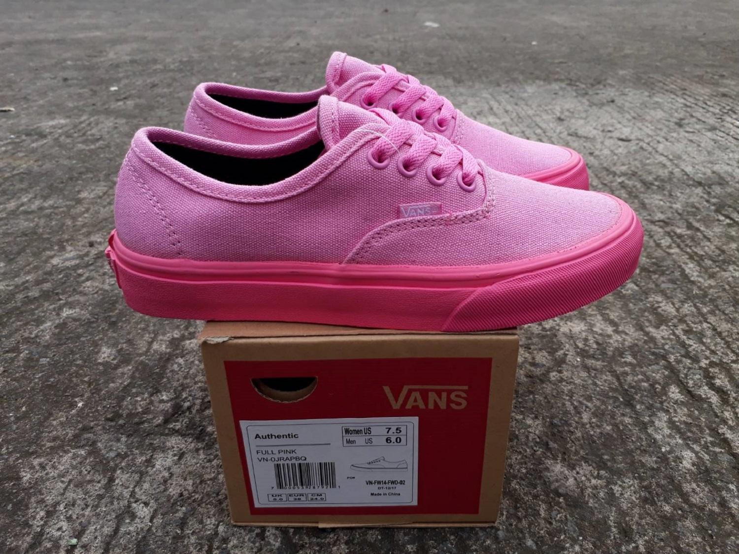 vns authentic full pink wafle dt