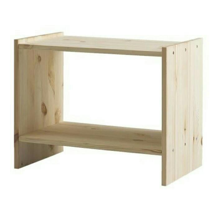 IKEA RAST Meja samping tempat tidur, kayu pinus