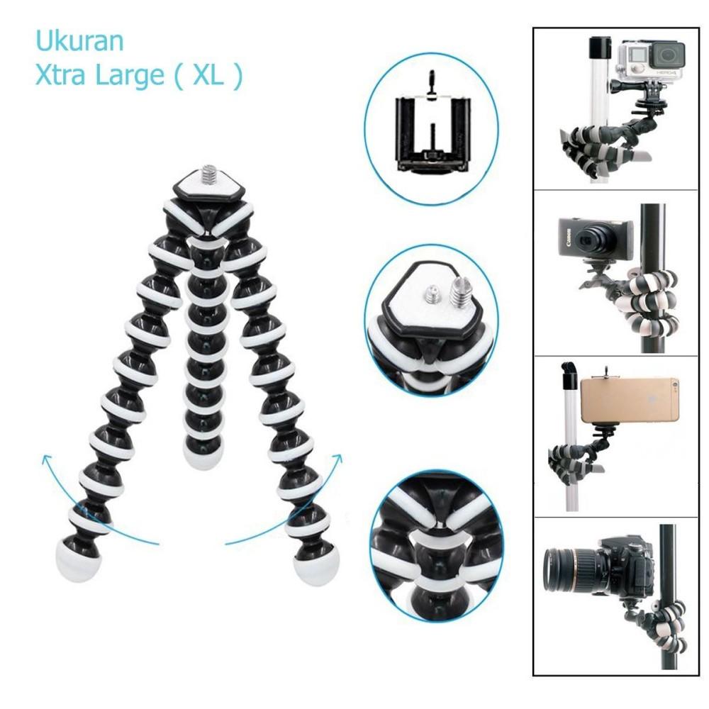 Gorilla Pod Gorila Tripod Lentur Fleksibel Mini Untuk HP Kamera Dan Action Cam