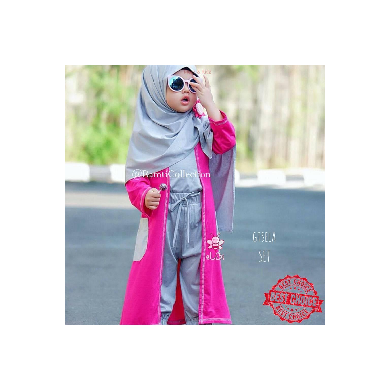 Garansi Harga Termurah Elbi-Baju Muslim Anak Manado I Gisela Bahan