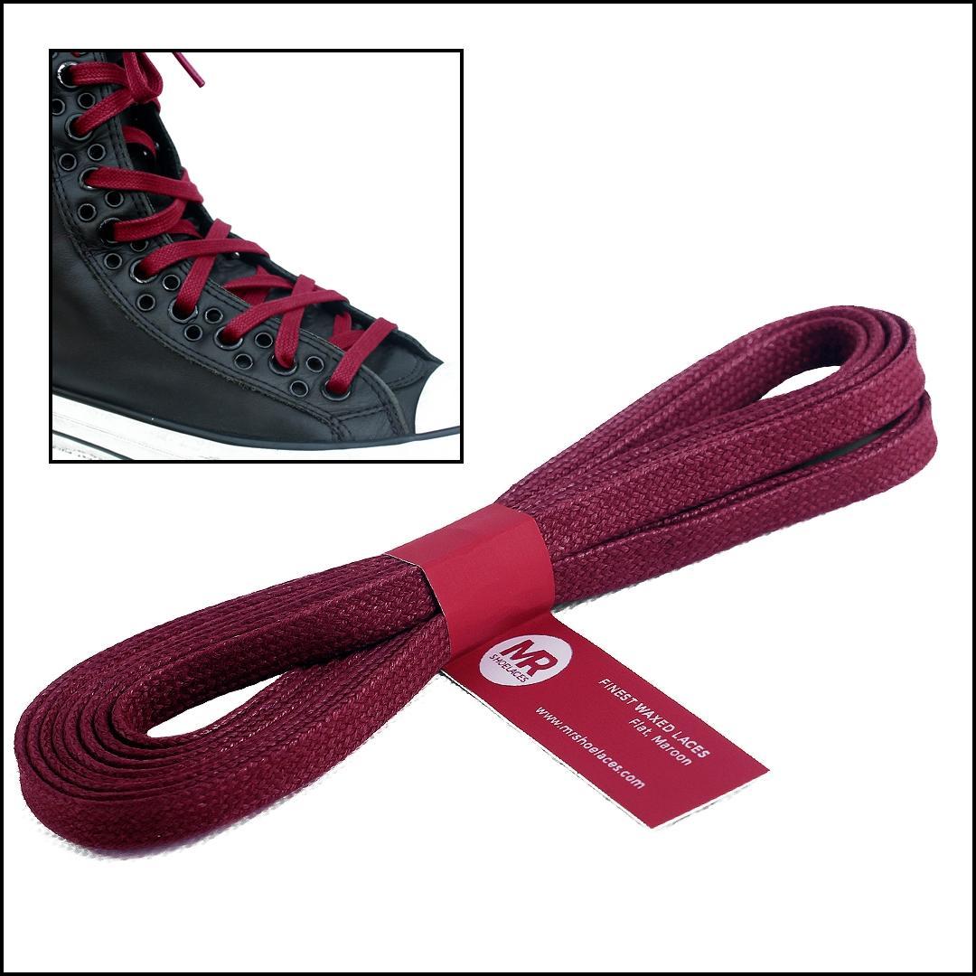 Mr. Sholeaces - Tali Sepatu Lilin Gepeng 6-7mm - Merah Marun