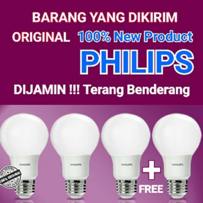Lampu LED Philips Bulb 13 Watt PUTIH / WHITE (Paket 4 PCS)