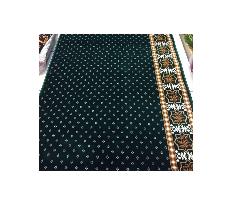 karpet musholla motif meteran warna hijau BLUE MOSQUE