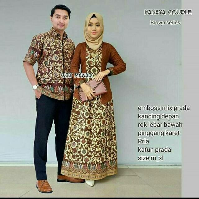 Baju Batik Couple   Baju Muslim Wanita Terbaru 2018   Gamis Wanita Terbaru    Batik Sarimbit e51c1fbccf
