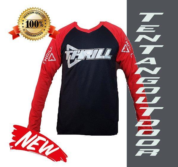 PREMIUM Jersey Downhill Cross Sepeda DH THRILL Baju Kaos F004 MTB BMX