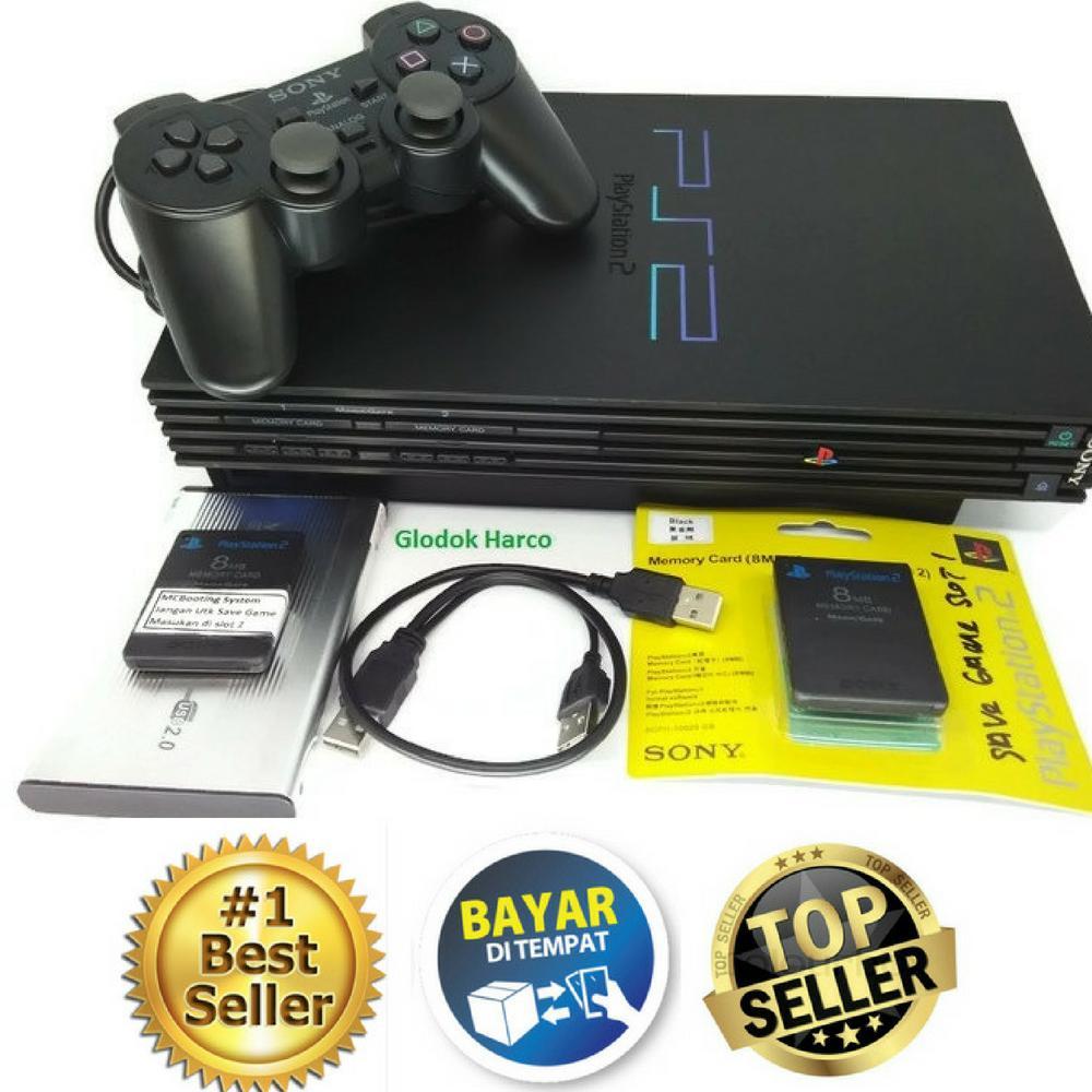 PS2 - Sony PlayStation 2 USB Harddisk 40 Gb Console Black Fee  MMC   16 mb