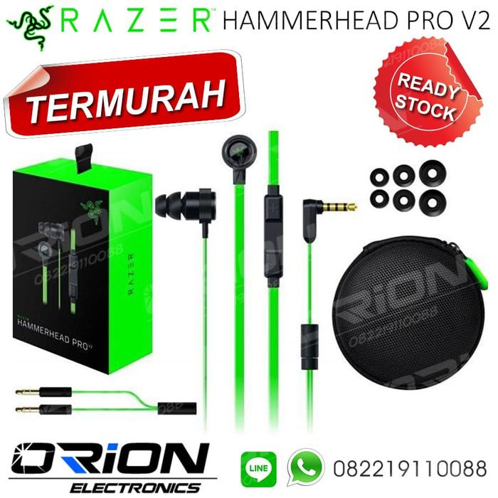 Razer Hammerhead Pro V2 Headset Earphone Gaming Hammerhead