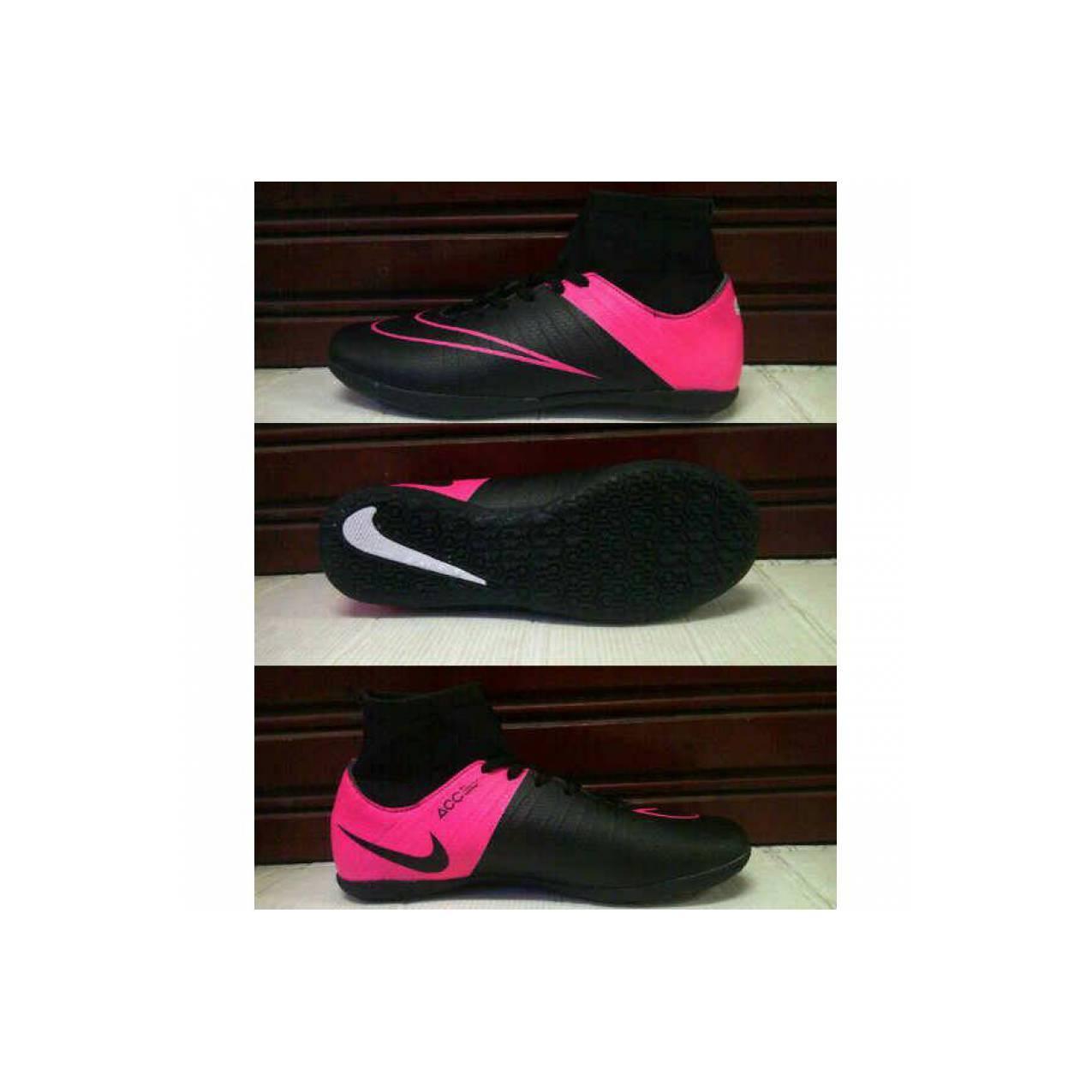 Sepatu Futsal Nike Mercurial Hitam Pink - Kualitas KW Super