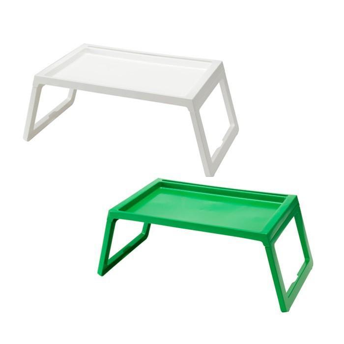 [S938] IKEA Meja Makan Baki Lipat Tempat Tidur - Bed Tray Klipsk White Plastik Tebal