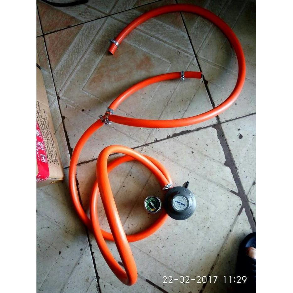 Selang Cabang Oven Gas. 2Meter + Regulator - B2nrkq