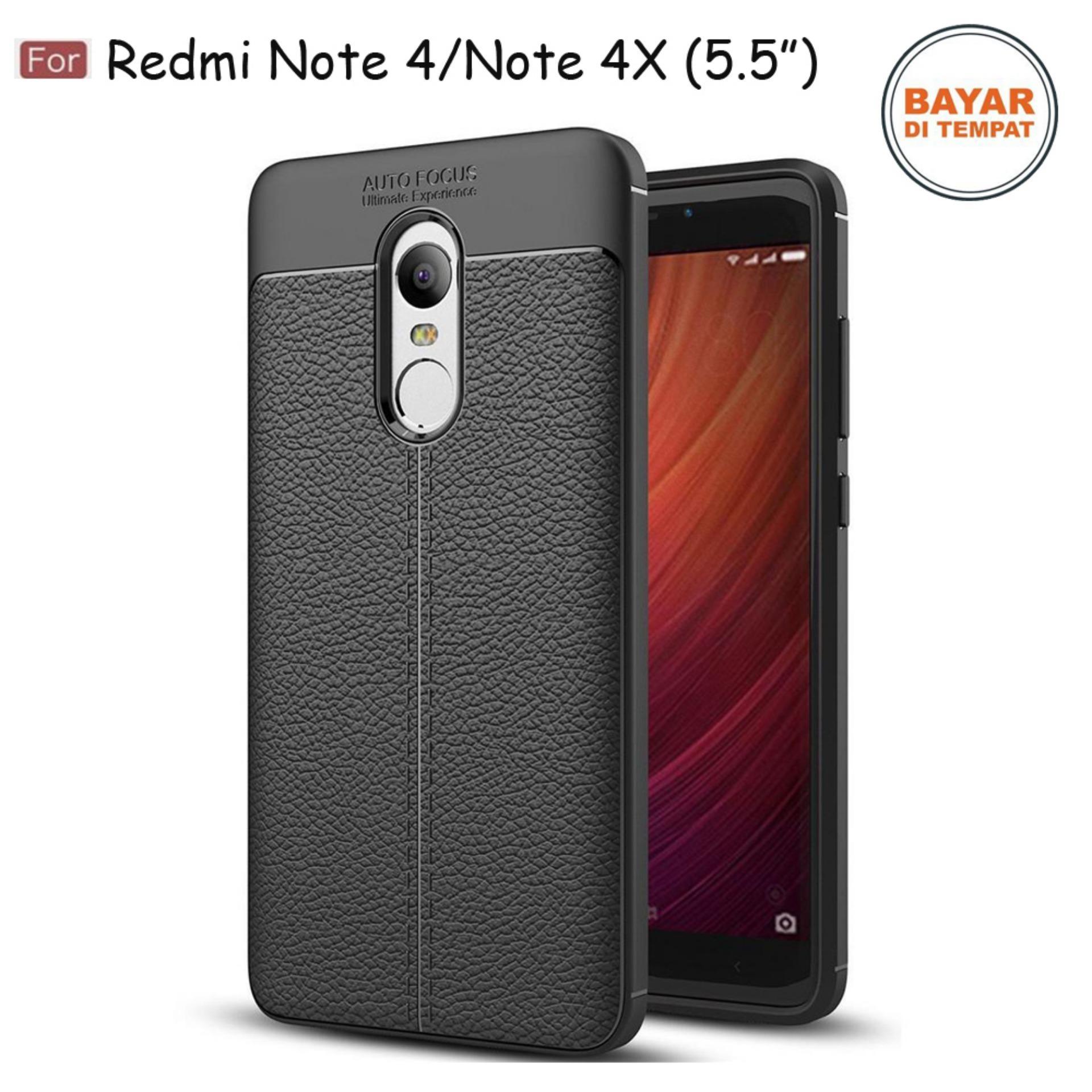 casing / Silikon Leather AutoFocus Softcase Xiaomi Redmi Note 4 / Note 4X ( 5.5