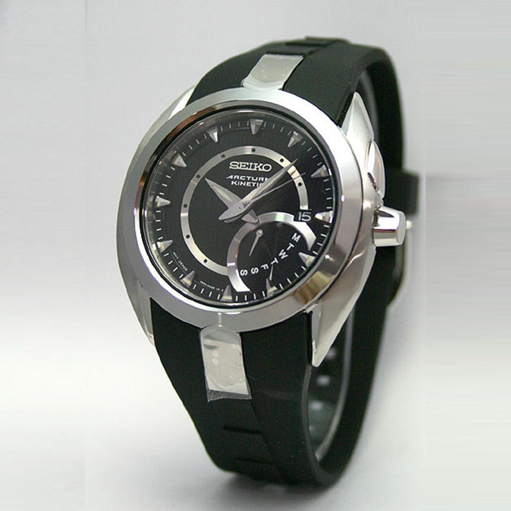 Seiko Arctura SRN013P1 Kinetik Black-Silver Dial | Jam Pria SRN013 Best N2jt