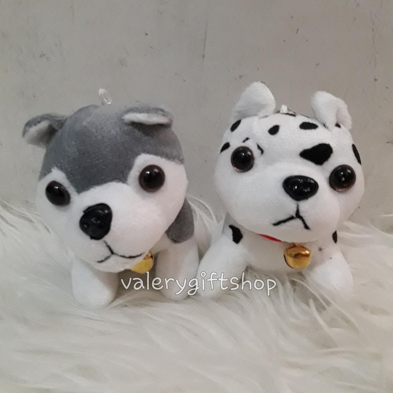 Gantungan Kunci Boneka Anjing Dog Doggy Dalmantian Dalmatian - Husky